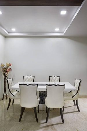marble top dinning set in vizag - 6 seater