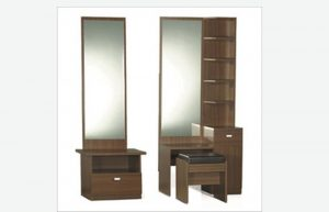 dressing table with glass