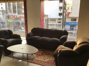 brown color fully foam sofa set