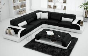 Dream black sofa set
