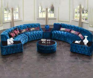 Luxury sofa set with teapoy