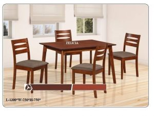 Felicia 4-Seater Dining Table Set