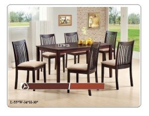 Lewis 6-Seater Dining Table Set