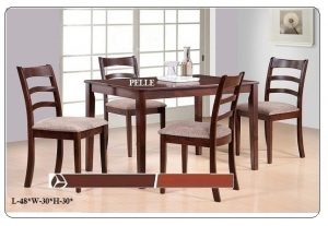 Pelle 4-Seater Dining Table Set