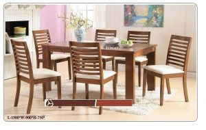 Togo 6-Seater Dining Table Set